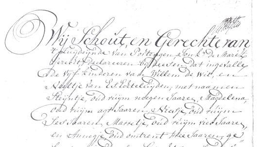 Akte van indemniteit 22 augustus 1792, voor 'Steijntje oud suijne neegen Jaaren, Magdalena oud suijne agt Jaaren, Niesje oud suijne Zes Jaaren, Marretje oud suijne vier Jaaren en Annigje, oud omtrent twee Jaaren' (2).