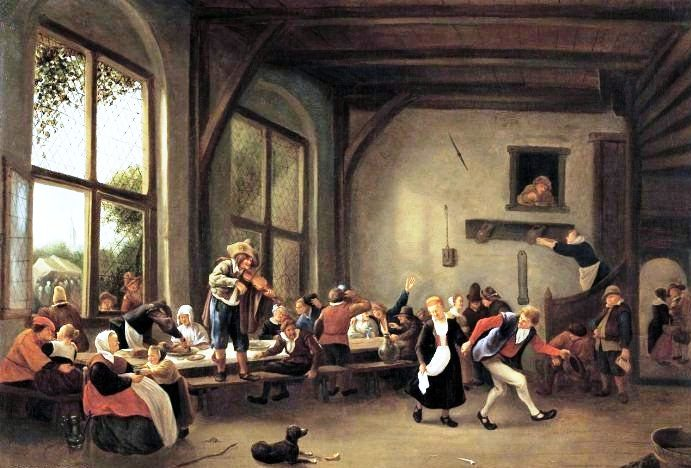 Boerenbruiloft. Jan Steen, 1662