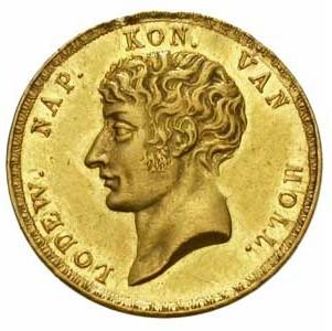 In 1808 en 1810 werden gouden 10 gulden munten met het borstbeeld van koning Lodewijk Napoleon geslagen in de 'Munt' te Utrecht. Deze instantie is sinds 1807 de enige die muntgeld mag maken. Onder het bestuur van koning Lodewijk Napoleon werd besloten om het slaan en uitgeven van Nederlandse munten landelijk te laten plaatsvinden en door één onderneming te laten uitvoeren.