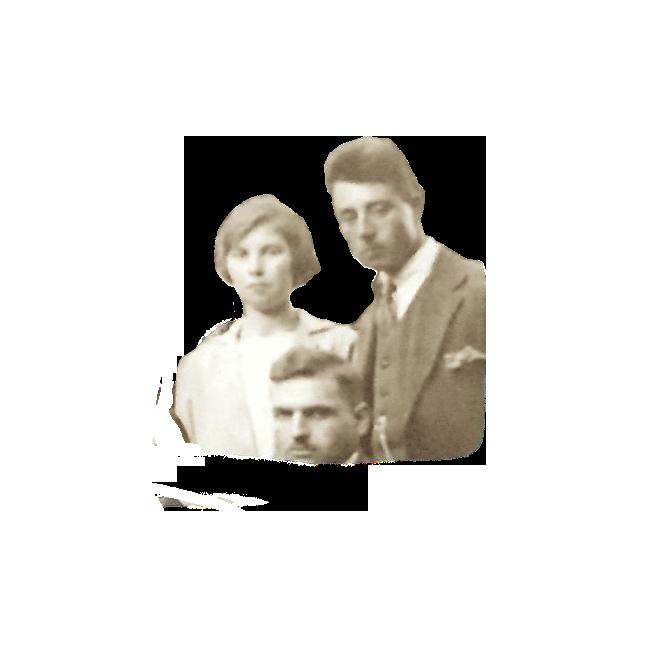De 22 jarige Marretje Bos en de 23 jarige Gijsbert Nap. Detail van een foto die in 1928 op een bruiloft werd gemaakt.
