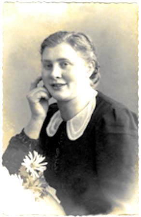Portretfoto van Grie Zeldenrijk die omstreeks 1939 werd gemaakt.