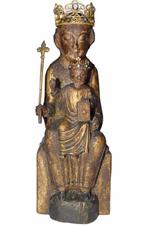 Het houten beeldje van Maria van Eiteren