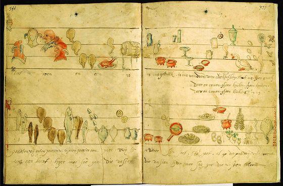 Vastenavond geschrift uit de 16e eeuw.